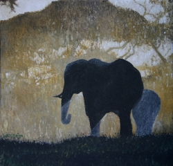 """Elefant im Sonnenuntergang"""